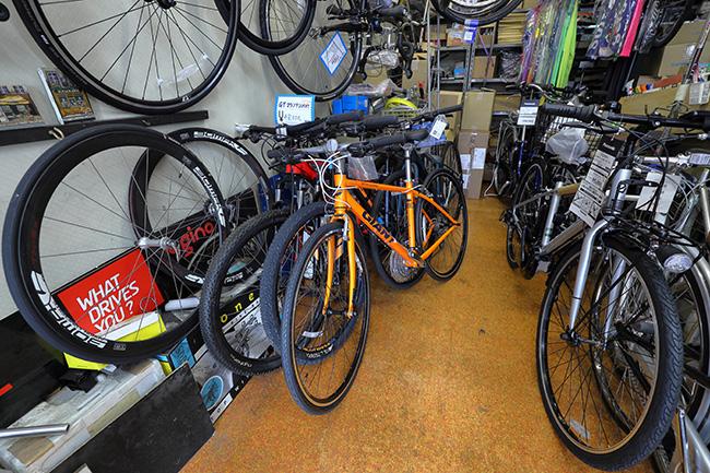幅広い種類の自転車
